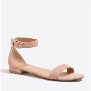 J.Crew Hadley Suede Ankle-strap sandals NWT